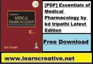 [PDF] Essentials of Medical Pharmacology by kd tripathi Latest Edition