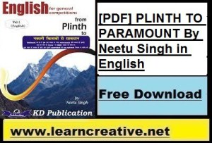 [Latest PDF] PLINTH TO PARAMOUNT PDF By Neetu Singh in English
