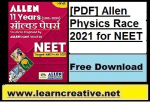 [PDF] Allen Physics Race 2021 for NEET