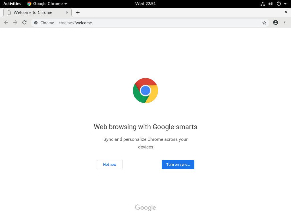 debian-google-chome-welcome-page