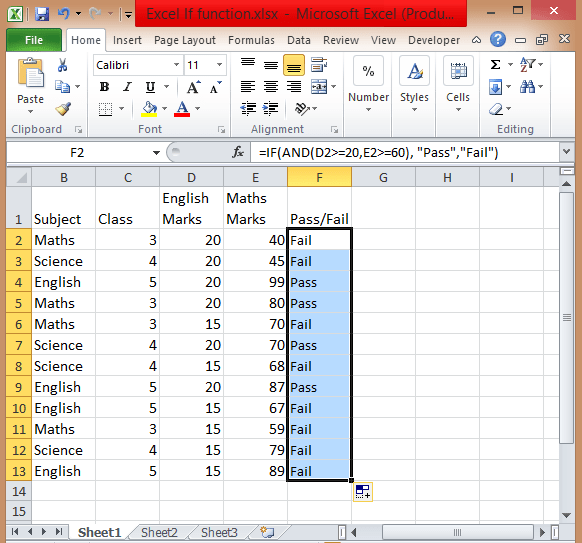 Excel-If-And-statement