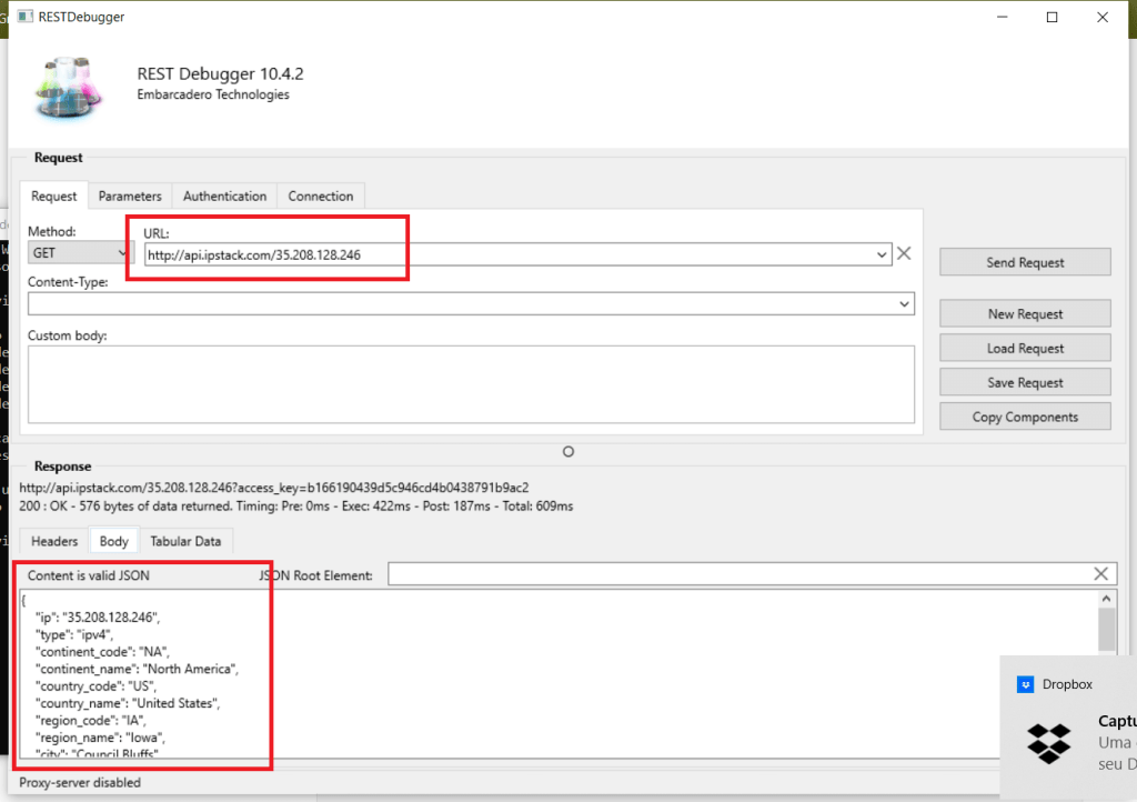 How To Build An Ultimate IP To Geolocation App - REST Debugger