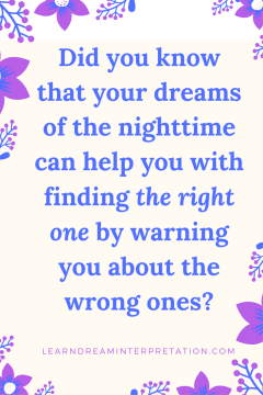 """Dating Dreams Expose the """"Wrong One"""""""
