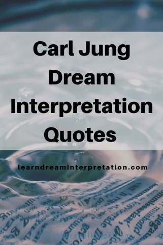Carl Jung Dream Interpretation Quotes