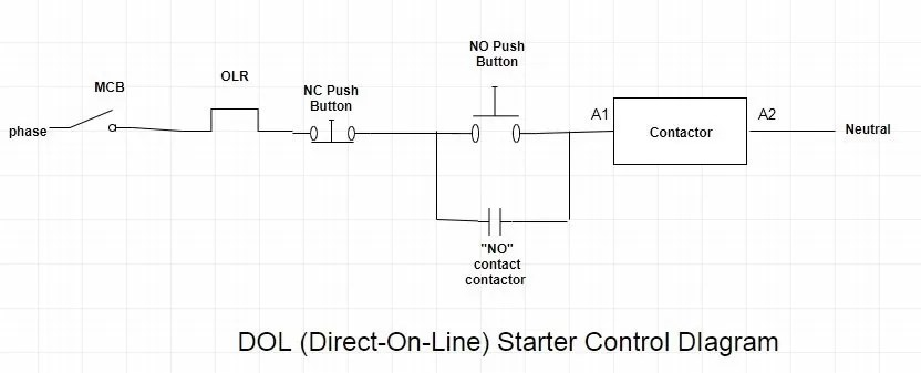 Dol Starter With Timer   Wiring Diagram on