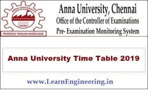 [PDF] Anna University Exam Time Table for Nov Dec 2019 UG/PG Examinations Download