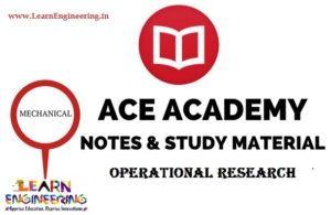 Ace Academy Operational Research Handwritten Notes