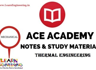 Ace Academy Thermal Engineering Handwritten Notes