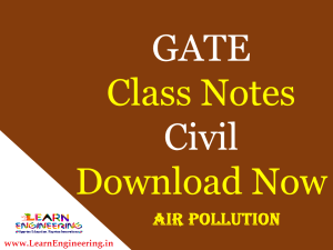 Gate Academy Air Pollution Notes