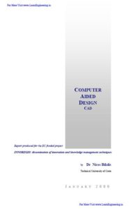 Computer Aided Design By Dr.Nicos Bilalis
