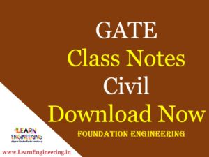 Gate Academy Foundation Engineering Notes