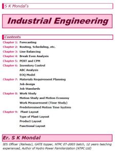 S K Mondal's Industrial Engineering Notes