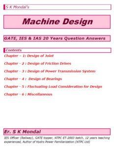 S K Mondal's Machine Design Notes