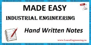 Made Easy Academy Industrial Engineering Handwritten Notes