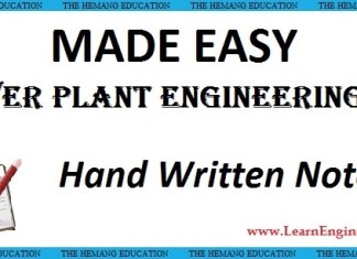 Made Easy Academy Power Plant Engineering Handwritten Notes