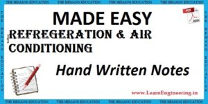 Made Easy Academy Refrigeration & Air Conditioning Handwritten Notes
