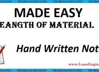 Made Easy Academy Strength of Materials Handwritten Notes