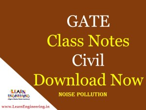 Gate Academy Noise Pollution Notes