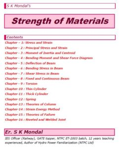S K Mondal's Strength of Materials Notes