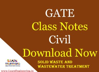 Gate Academy Solid Waste and Wastewater Treatment Notes