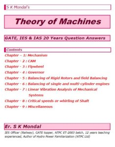 S K Mondal's Theory of Machines Notes