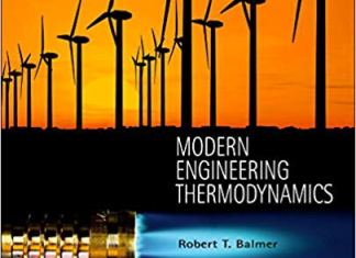 Modern Engineering Thermodynamics By Robert T. Balmer