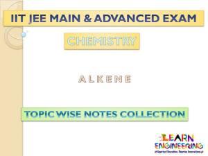 Alkene (Chemistry) Notes for IIT-JEE Exam