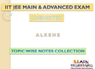 Alkene (Chemistry) Notes for IIT-JEE Exam