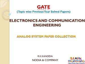 R K Kanodia Analog Electronics Notes