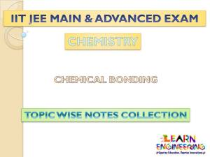 Chemical Bonding (Chemistry) Notes for IIT-JEE Exam
