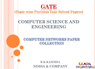R K Kanodia Computer Networks Notes