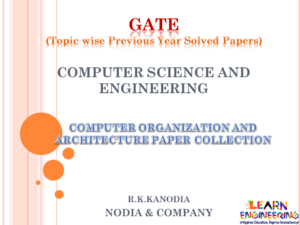 R K Kanodia Computer Organization and Architecture Notes
