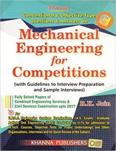 Conventional & Objective Typw Questions & Answers on Mechanical Engineering By Er R.K.Jain