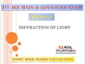 Diffraction of Light (Physics) Notes for IIT-JEE Exam