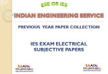 IES Electrical Engineering Subjective Previous Years Papers Collection