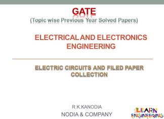 R K Kanodia Electric Circuits and Electric Field Notes