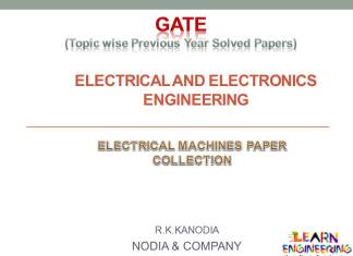 R K Kanodia Electrical Machines Notes