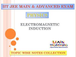 Electromagnetic Induction (Physics) Notes for IIT-JEE Exam