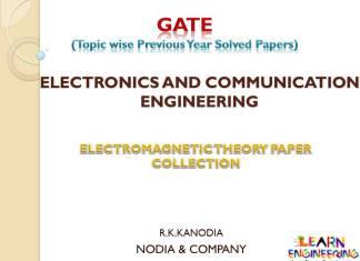 R K Kanodia Electro Magnetic Theory