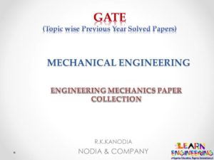 R K Kanodia Engineering Mechanics Notes