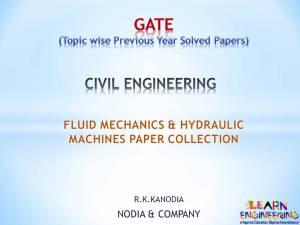 R K Kanodia Fluid Mechanics and Hydraulic Machines
