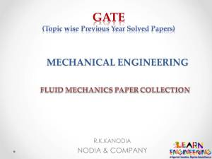 R K Kanodia Fluid Mechanics Notes