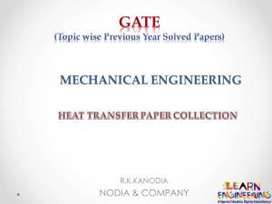 R K Kanodia Heat Transfer Notes