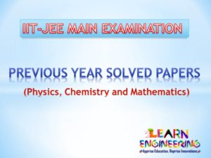 JEE Main Previous Year Solved Papers