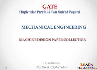 R K Kanodia Machine Design Notes