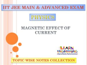 Magnetic Effect of Current (Physics) Notes for IIT-JEE Exam
