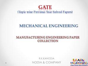 R K Kanodia Manufacturing Engineering Notes