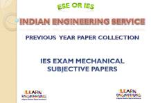 IES Mechanical Engineering Subjective Previous Years Papers Collection