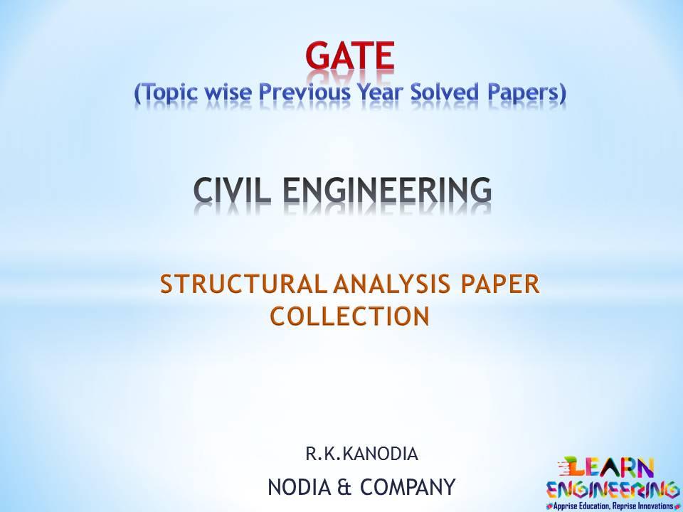 R K Kanodia Structural Analysis Notes