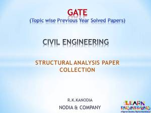R K Kanodia Structural Analysis Notes